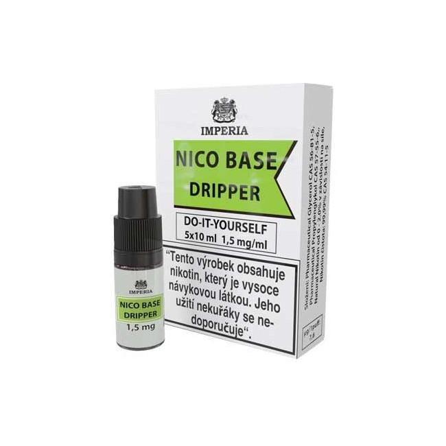 obrázek Nico base dripper 5 x 10 ml 1.5 mg/ml