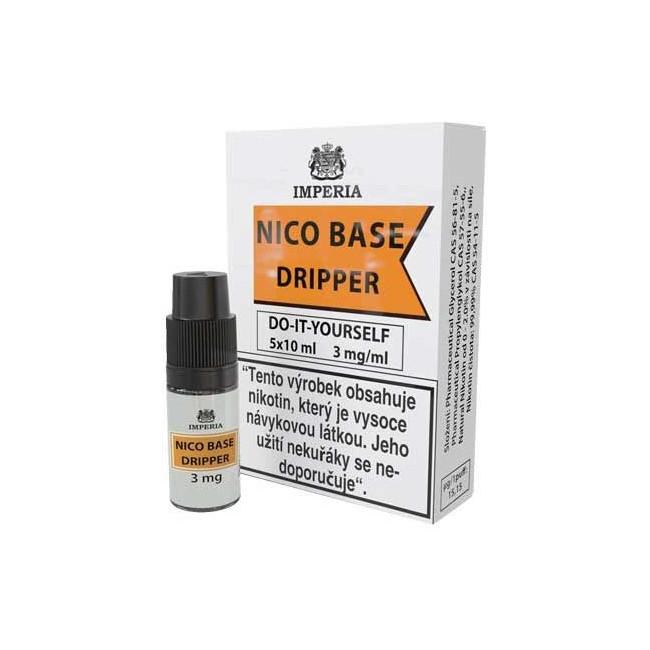 obrázek Nico base dripper 5 x 10 ml 3 mg/ml