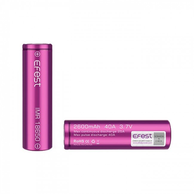 obrázek Efest baterie typ 18650
